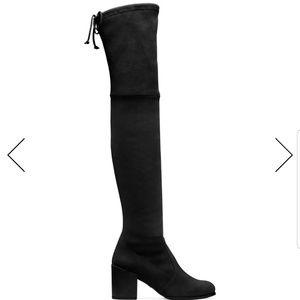 Stuart Weitzman Tieland Black Suede OTK boots